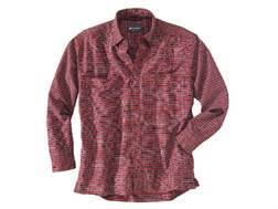 Woolrich Elite Oxford Concealed Carry Long Sleeve Shirt Cotton Ruby Plaid XXL