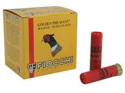 "Fiocchi Golden Pheasant Ammunition 28 Gauge 2-3/4"" 7/8 oz #6 Nickel Plated Shot Box of 25"
