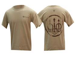 Beretta Trident Graphic Short Sleeve T-Shirt Cotton Tan Large