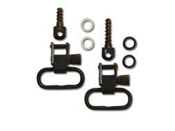 "GrovTec Sling Swivel Studs with 1"" Locking Swivels Set with Wood Screw Forend Steel Black"