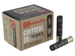 Hornady Critical Defense Ammunition 410 Bore 41 Caliber FTX Slug over two 35 Caliber Lead Round Balls Box of 20