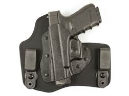 DeSantis Invader Inside the Waistband Holster Left Hand Glock 17, 19, 22, 23, 26, 27, 36 Kydex and Nylon Black