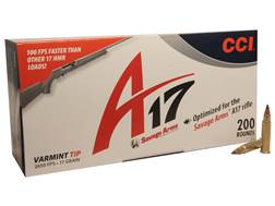 CCI A17 Ammunition 17 Hornady Magnum Rimfire (HMR) 17 Grain Tipped Varmint Box of 200