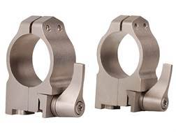 "Warne 1"" Quick-Detachable Ring Mounts Ruger 77 Silver Medium"