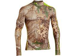 Under Armour Men's ColdGear Infrared Scent Control EVO Mock Base Layer Shirt Polyester