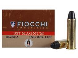 Fiocchi Cowboy Action Ammunition 357 Magnum 158 Grain Lead Round Nose Flat Point Box of 50