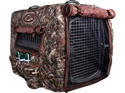 Drake Deluxe Adjustable Insulated Dog Kennel Cover Polyester Realtree Max-5 Camo