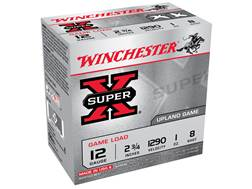 "Winchester Super-X Game Load Ammunition 12 Gauge 2-3/4"" 1 oz #8 Shot"
