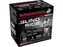 "Winchester Blind Side Ammunition 12 Gauge 3"" 1-3/8 oz #2 Non-Toxic Steel Shot"