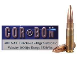 Cor-Bon Self Defense Ammunition 300 AAC Blackout 240 Grain Jacketed Hollow Point Subsonic Box of 20