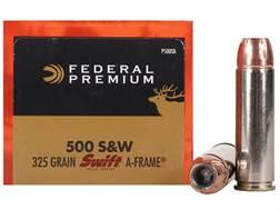 Federal Premium Vital-Shok Ammunition 500 S&W Magnum 325 Grain Swift A-Frame Jacketed Hollow Point Box of 20