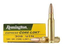 Remington Express Ammunition 308 Winchester 180 Grain Core-Lokt Pointed Soft Point Box of 20