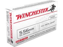Winchester USA Ammunition Q3131 5.56x45mm NATO 55 Grain Full Metal Jacket