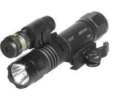 Leapers UTG Tactical LED Flashlight and Red Laser Sight with Quick Disconnect Weaver-style Mount and Pressure Pad Matte