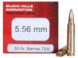 Black Hills Ammunition 5.56x45mm NATO 50 Grain Barnes Triple-Shock X Bullet Hollow Point Lead-Free Box of 50