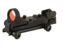 C-More Tactical Reflex Sight Red Dot with Adjustable Rear Sight and Click Switch AR-15 Flat-Top Mount Aluminum Matte