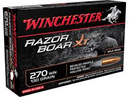 Winchester Razorback XT Ammunition 270 Winchester 130 Grain Hollow Point Lead-Free Box of 20