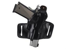 Ross Leather Belt Slide Holster with Thumbsnap Right Hand Glock 17, 22, 31 Leather Black