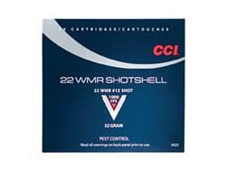 CCI Shotshell Ammunition 22 Winchester Magnum Rimfire (WMR) 52 Grain #12 Shot Shotshell Box of 20