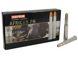 Norma African PH Ammunition 500/416 Nitro Express 410 Grain Woodleigh Weldcore Soft Point Box of 10