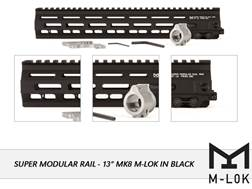 Geissele Super Modular Rail MK8 M-Lok Free Float Handguard with Low Profile Gas Block AR-15 Aluminum