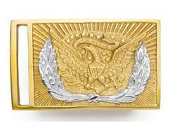 """Collector's Armoury Replica Civil War Union Officer's Deluxe """"US"""" Belt Buckle Brass"""