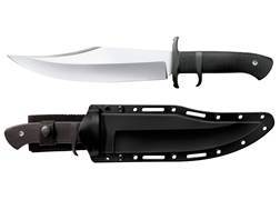 """Cold Steel Marauder Fixed Blade Tactical Knife 9"""" Clip Point AUS 8A Stainless Steel Blade Kray-Ex Handle Black"""