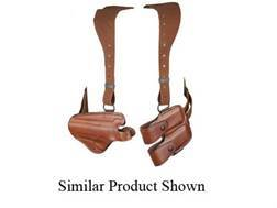 Bianchi X16 Agent X Shoulder Holster System Left Hand S&W 1006, 4506, CS40, CS45 Leather Tan