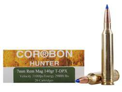 Cor-Bon DPX Hunter Ammunition 7mm Remington Magnum 140 Grain Tipped DPX Lead-Free Box of 20