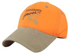 Pheasants Forever Logo Cap Cotton Blaze Orange and Brown