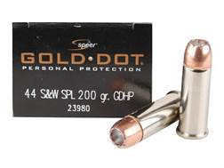 Speer Gold Dot Ammunition 44 Special 200 Grain Jacketed Hollow Point Box of 20