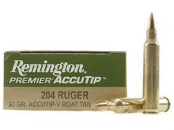 Remington Premier Varmint Ammunition 204 Ruger 32 Grain AccuTip-V Boat Tail Box of 20