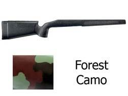 McMillan A-3 Rifle Stock Remington 700 BDL Long Action Varmint Barrel Channel Fiberglass Molded-In Forest Camo Semi-Inletted