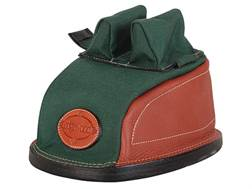 Edgewood Original Rear Shooting Rest Bag Tall with Regular Ears and Wide Stitch Width Leather and Nylon Green Unfilled