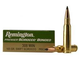 Remington Premier Ammunition 308 Winchester 165 Grain Swift Scirocco Polymer Tip Box of 20