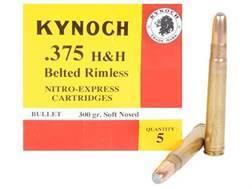 Kynoch Ammunition 375 H&H Magnum 300 Grain Woodleigh Weldcore Soft Point Box of 5