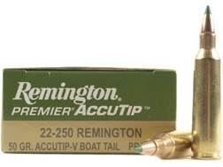 Remington Premier Varmint Ammunition 22-250 Remington 50 Grain AccuTip Boat Tail Box of 20