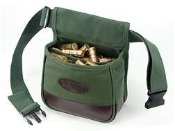 Allen Shooter's Divided Shotgun Shell Pouch with Adjustable Belt Canvas Green