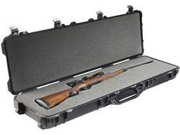 "Pelican 1750 Scoped Rifle Gun Case with Solid Foam Insert and Wheels 53"" Polymer Black"