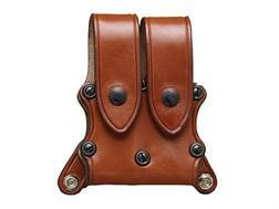 Hunter 5902 Pro-Hide Double Magazine Pouch with Flaps for 5100 Shoulder Harness Right Hand Staggered Magazine Leather Brown