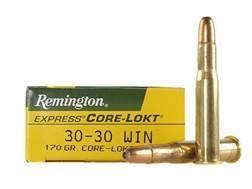 Remington Express Ammunition 30-30 Winchester 170 Grain Core-Lokt Hollow Point Box of 20