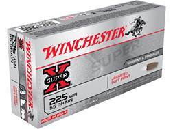 Winchester Super-X Ammunition 225 Winchester 55 Grain Pointed Soft Point
