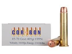 Cor-Bon Hunter Ammunition 45-70 Government 405 Grain Flat Nose Penetrator Box of 20