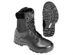 "5.11 ATAC Storm 8"" Waterproof Uninsulated Tactical Boots Leather and Nylon Side Zip Black Men's 13 D"