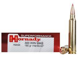 Hornady SUPERFORMANCE Ammunition 300 Winchester Magnum 165 Grain InterBond Boat Tail Box of 20