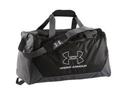 Under Armour UA Hustle Duffel Bag Black and White