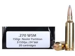 Doubletap Ammunition 270 Winchester Short Magnum (WSM) 150 Grain Nosler Partition Spitzer Box of 20