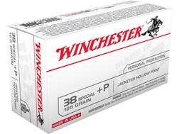 Winchester USA Ammunition 38 Special +P 125 Grain Jacketed Hollow Point Case of 500 (10 Boxes of 50)