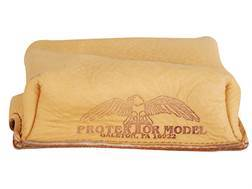 Protektor Small Brick Rear Shooting Rest Bag Leather Tan Unfilled