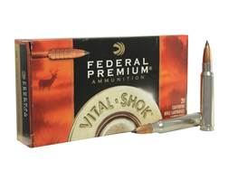 Federal Premium Vital-Shok Ammunition 338 Winchester Magnum 225 Grain Trophy Copper Tipped Boat Tail Lead-Free Box of 20